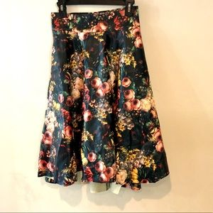 BEULAH HI LOW FLORAL SKIRT